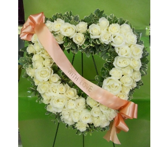 White on White Wreath in Nashville TN, Emma's Flowers & Gifts, Inc.