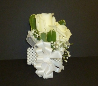 Double rose corsage in Weymouth MA, Hartstone Flower, Inc.