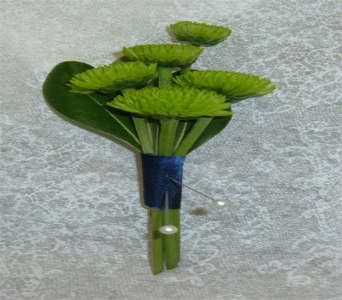 Green button boutonniere in Weymouth MA, Hartstone Flower, Inc.