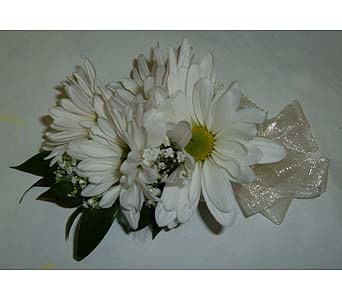 White Daisy Corsage in Weymouth MA, Hartstone Flower, Inc.