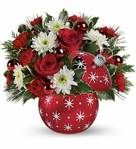 Celebrations by Radko Starry Ornament Bouquet in Bellmore NY, Petite Florist