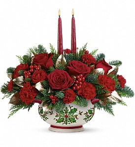 Teleflora's Gifts Of The Season Centerpiece in Oklahoma City OK, Array of Flowers & Gifts