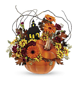 Teleflora's Haunted House Bouquet in Lynchburg VA, Kathryn's Flower & Gift Shop