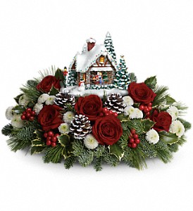 Thomas Kinkade's Meet Me Under The Mistletoe in Columbus OH, OSUFLOWERS .COM