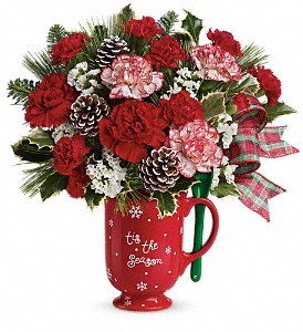 Teleflora's Warm Holiday Wishes Bouquet in Reno NV, Bumblebee Blooms Flower Boutique