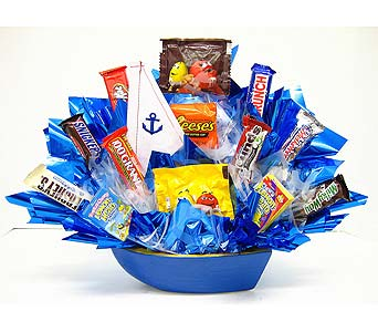 CB296 ''Sail Away'' Candy Bouquet in Oklahoma City OK, Array of Flowers & Gifts