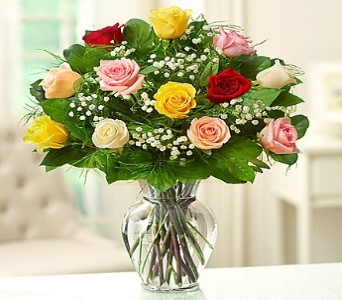 Rose Elegance� Premium Long Stem Assorted Roses in Round Rock TX, Heart & Home Flowers