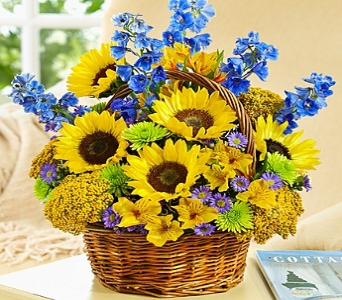 Fields of Europe� for Summer Basket in Round Rock TX, Heart & Home Flowers