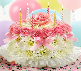Birthday Flower Cake� Pastel in Round Rock TX, Heart & Home Flowers