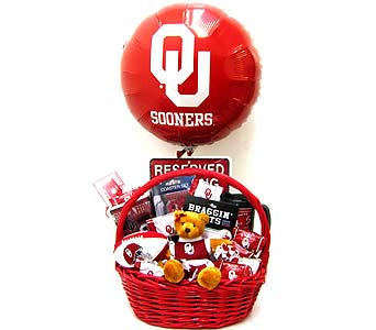 OU53 ''Sooner Cheer'' Gift Basket in Oklahoma City OK, Array of Flowers & Gifts