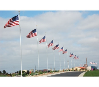 Avenue of Flags in San Diego CA, Flowers Of Point Loma