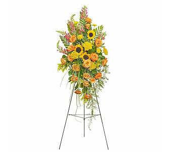 Heaven's Sunset Standing Spray in Fort Worth TX, TCU Florist