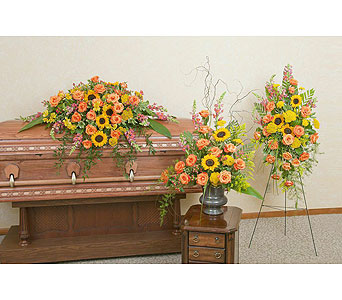 Heaven's Sunset Trio in Wellington FL, Wellington Florist
