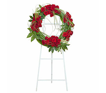 Royal Wreath in Mount Morris MI, June's Floral Company & Fruit Bouquets