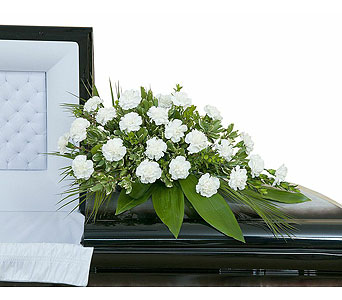 Simple Love Casket Spray in Sault Ste Marie MI, CO-ED Flowers & Gifts Inc.