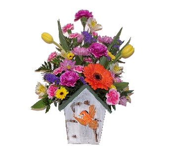 Country Birdhouse in Wading River NY, Forte's Wading River Florist