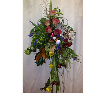Outdoors Standing Spray in Timmins ON, Timmins Flower Shop Inc.