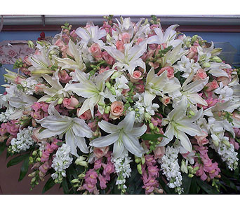 Beauty in Pink Casket Spray in Port Chester NY, Port Chester Florist