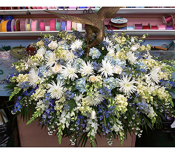 Graceful Casket Spray with Eagle in Port Chester NY, Port Chester Florist