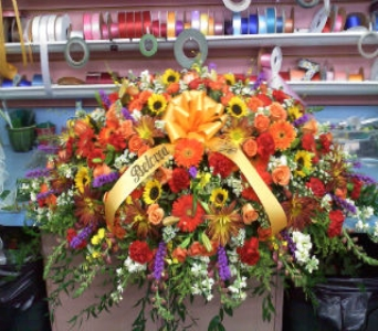 Fall Inspired Casket Spray in Port Chester NY, Port Chester Florist