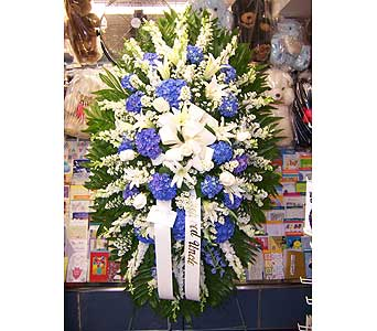 Heavenly Heights Standing Spray in Port Chester NY, Port Chester Florist