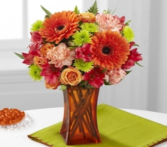Orange Escape Bouquet in Noblesville IN, Adrienes Flowers & Gifts