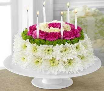 The Wonderful Wishes� Floral Cake by FTD� in Branford CT, Myers Flower Shop