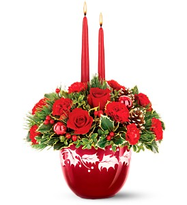 Teleflora's Ruby Glass Bowl Bouquet in Pendleton OR, Calico Country Designs