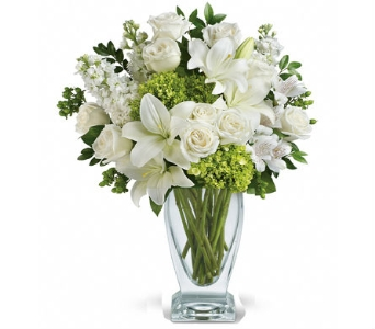 Moments of Beauty White Flower Bouquet in Santa Monica CA, Edelweiss Flower Boutique