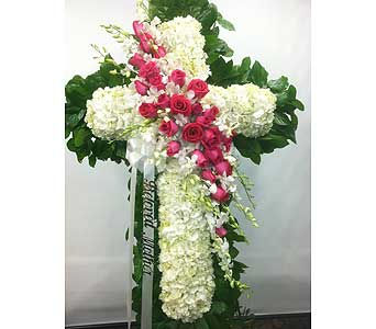 Graceful Standing Cross in Port Chester NY, Port Chester Florist