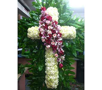 Sophisticated Standing Cross in Port Chester NY, Port Chester Florist