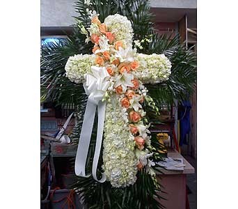 Delicate Standing Cross in Port Chester NY, Port Chester Florist