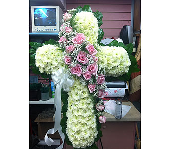 Classy Standing Cross in Port Chester NY, Port Chester Florist
