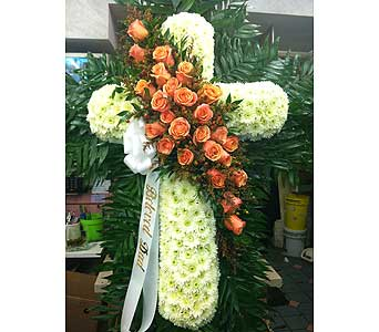 Vintage Standing Cross in Port Chester NY, Port Chester Florist
