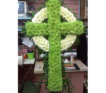 Green Celtic Standing Cross in Port Chester NY, Port Chester Florist