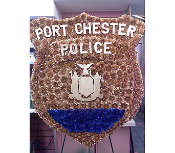 Police Badge Tribute in Port Chester NY, Port Chester Florist