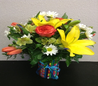Pencil vase arrangement  in Lubbock TX, House of Flowers