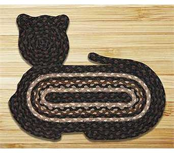 Braided Cat Shaped Rug 15x2014.95 in Westerville OH, Reno's Floral