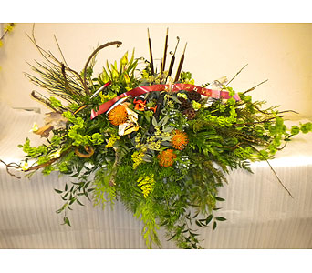 Fishing Theme Casket Spray in Timmins ON, Timmins Flower Shop Inc.