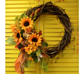 Fall Silk Wreath in Utica NY, Chester's Flower Shop And Greenhouses