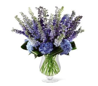 Honestly Luxury Delphinium & Hydrangea Bouquet in Ogden UT, Lund Floral