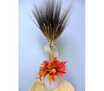 Small Fall Bearded Wheat Arrangement in Tampa FL, Buds, Blooms & Beyond