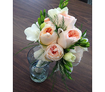 Juliet Rose with Freesia in Wake Forest NC, Wake Forest Florist