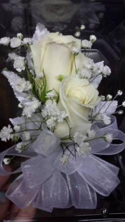 White Rose Corsage in Westland MI, Westland Florist & Greenhouse
