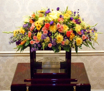 Magnificent Hues Ark Spray in Kennett Square PA, Barber's Florist Of Kennett Square