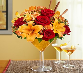Martini Bouquet Pumpkin Spice in Round Rock TX, Heart & Home Flowers