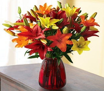 Autumn Lily Bouquet in Round Rock TX, Heart & Home Flowers