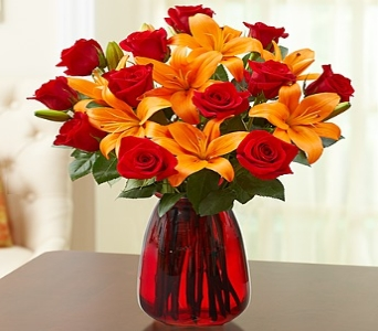 Elegant Rose & Lily Bouquet in Round Rock TX, Heart & Home Flowers