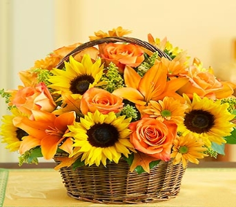 Fields of Europe for Fall Basket in Round Rock TX, Heart & Home Flowers