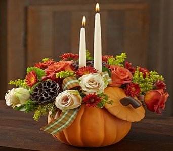 Autumn Essence� Centerpiece in Round Rock TX, Heart & Home Flowers
